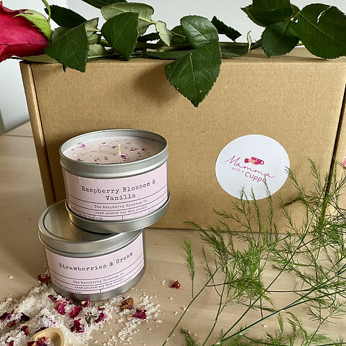 Strawberries and Cream Eco Soy Tinned Candle