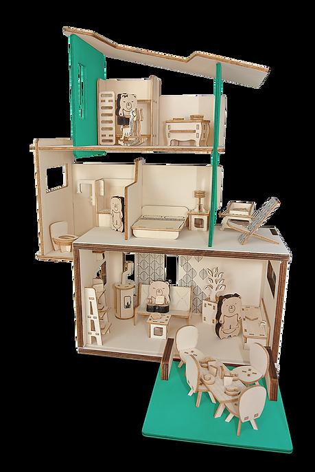 La maison des Ursidae - Ça envoie du bois - maison de poupée