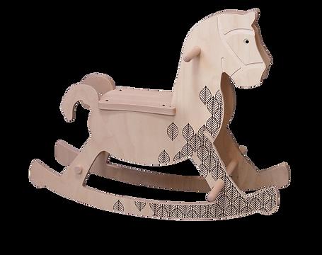 Théobald, le cheval à bascule. Ça envoie du bois. Jouet artisanal Français.