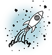 Pyokki - picto graphique fusée