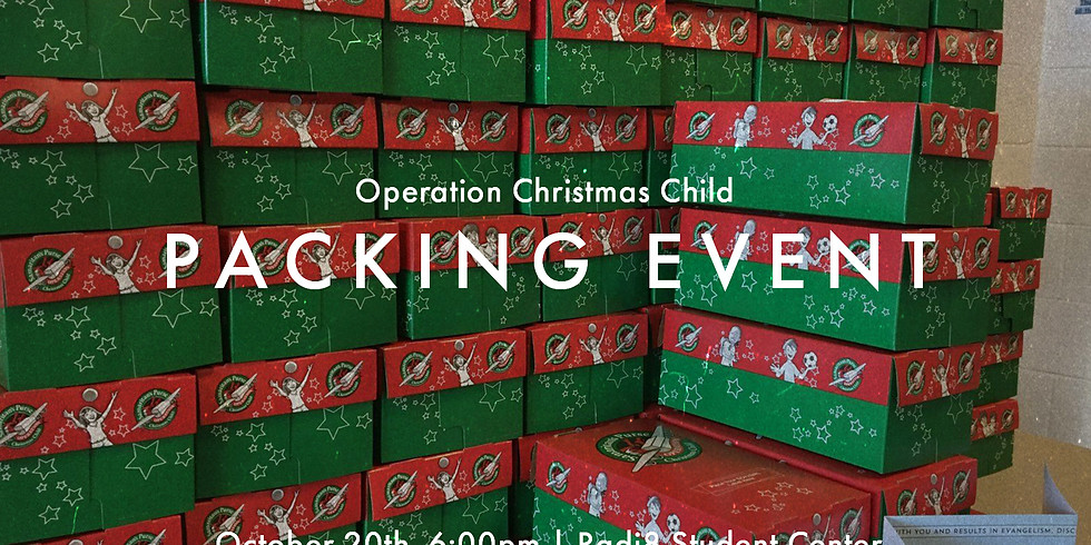 Operation Christmas Child Packing Event