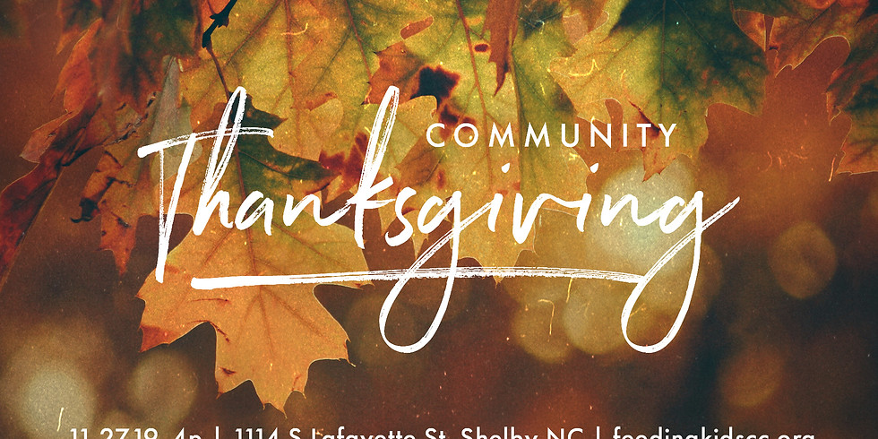 Community Plate Thanksgiving Meal