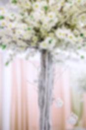 свадебный композиции на столах