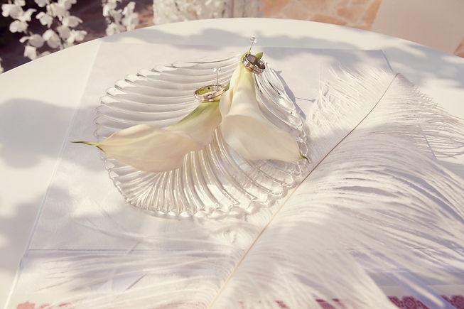 свадебные кольца, на регистрационном столике на выездной регистрации свадьбы в Тюмени. выездная регистрация у Гарден отеля Тюмень