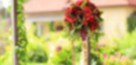 свадебная композиция из цветов и фруктов Тюмень