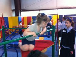 Girls w kids in gym