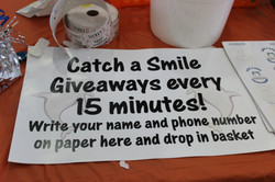 Catch a smile sign