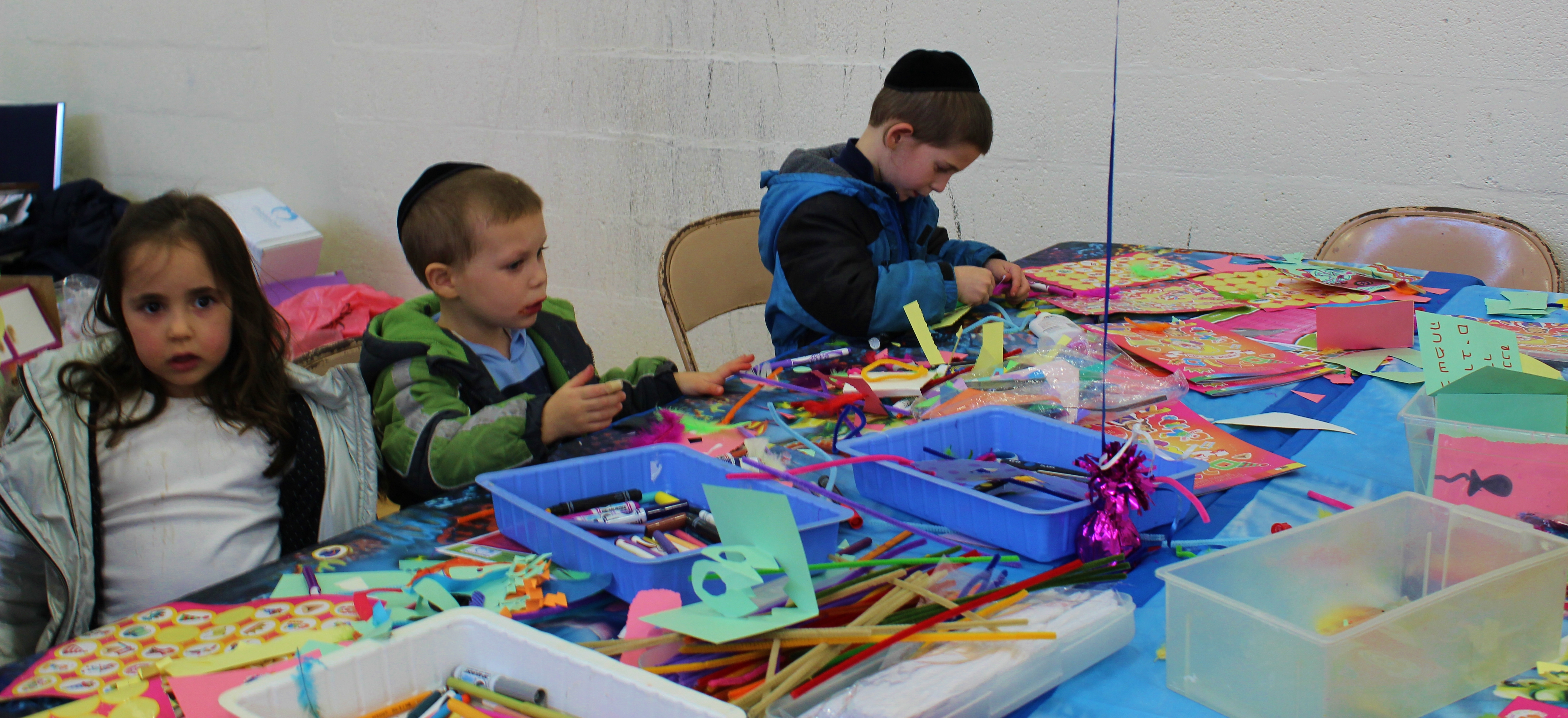 Boys at crafts table