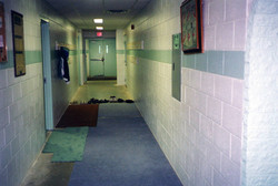 Basement main corridor.