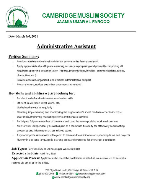 Admin Assistant Job Posting.jpg
