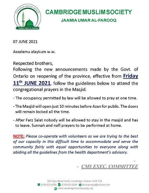 LOCKDOWN OPEN 11 JUNE2021- REV1.1 PRAYER