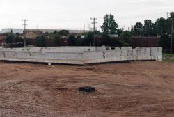 Basement block work completed.