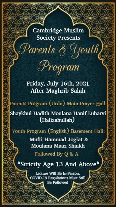 Youth- Parents program-16 July 2021, Shaykh hanif.jpg