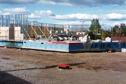 Mainfloor construction begins.