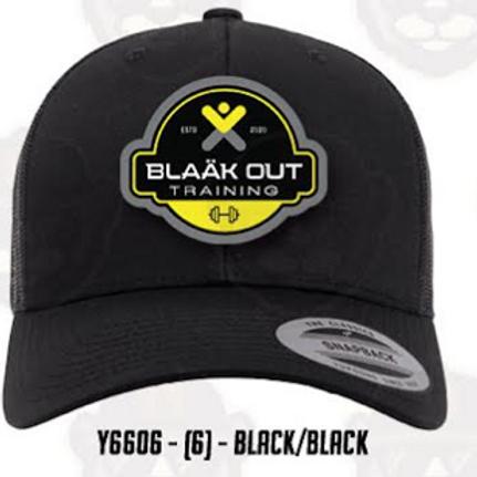 Black on Black mesh trucker cap