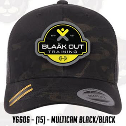 Multicam Black mesh trucker cap