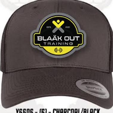 Charcoal/Black meh trucker cap