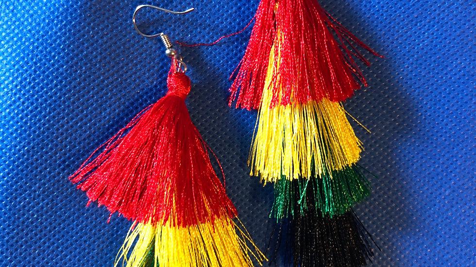 Culture fringe earrings