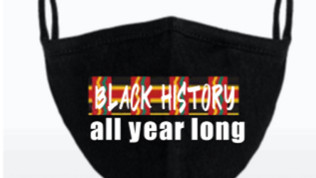 Youth: Black History all year long face mask