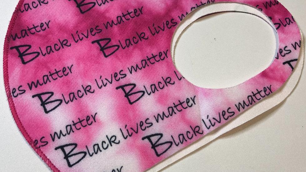 BLM pink tye-dye mask