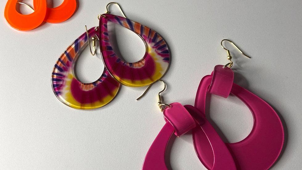 Tye Dye trio earring set