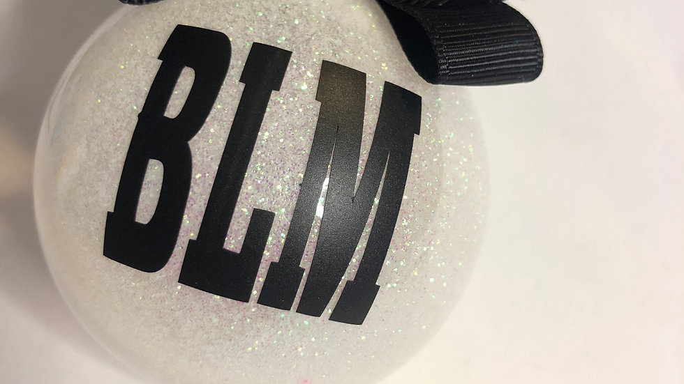 BLM Holographic Holiday ornament