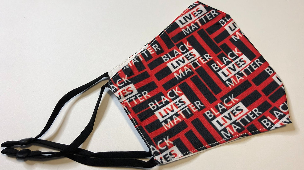 Red Cotton BLM face mask