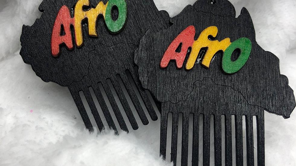 Afro Pic Earrings