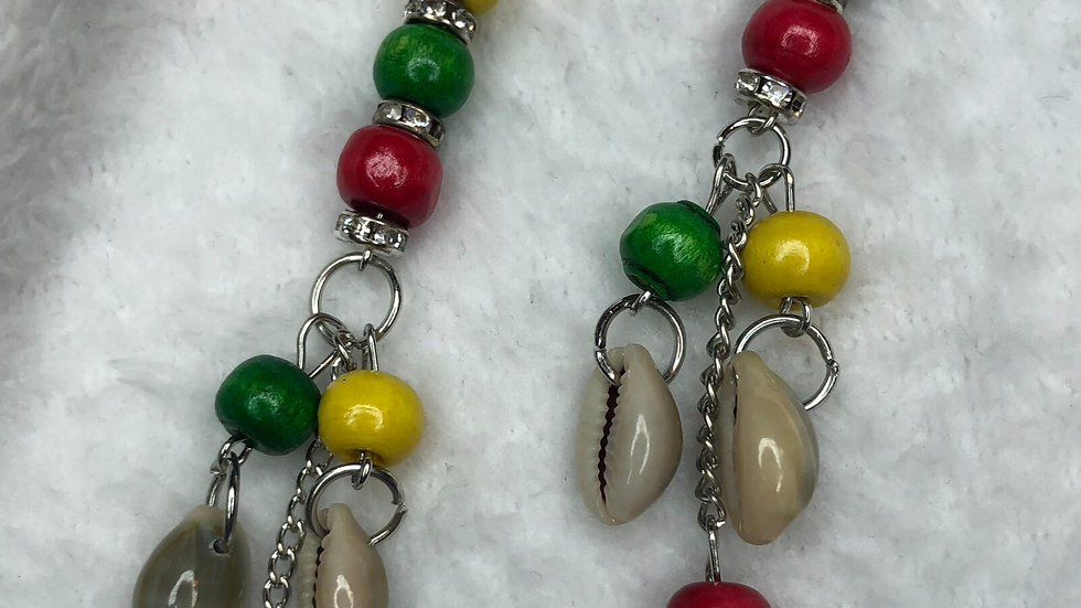 Island inspired dangle earrings