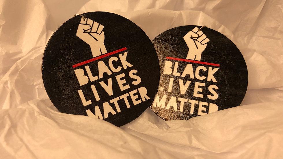Black BLM earrings