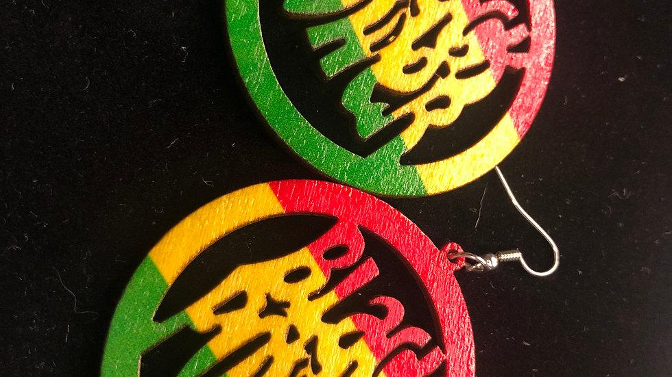 Black Power Earrings