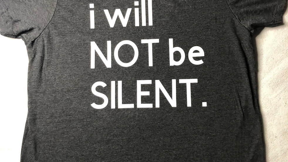 i will NOT be SILENT.