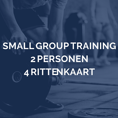 Small group training | 2 personen | 4 rittenkaart