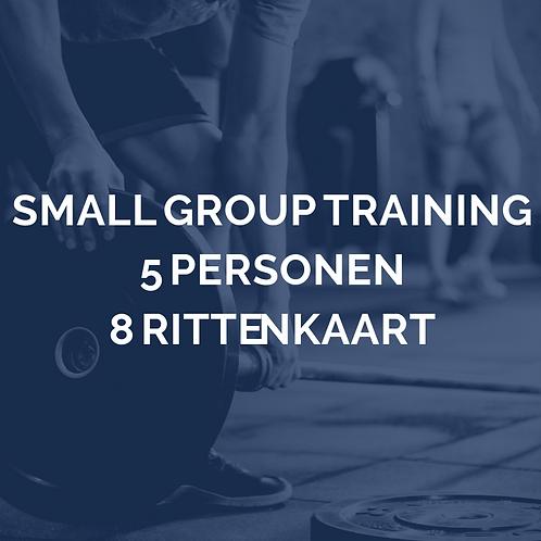 Small group training | 5 personen | 8 rittenkaart