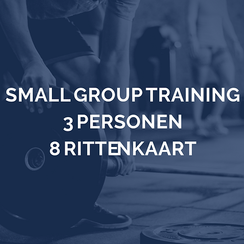 Small group training | 3 personen | 8 rittenkaart