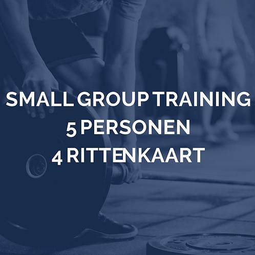 Small group training | 5 personen | 4 rittenkaart