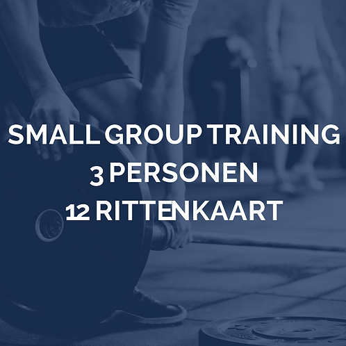 Small group training | 3 personen | 12 rittenkaart