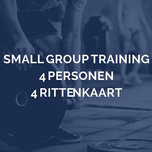 Small group training   4 personen   4 rittenkaart