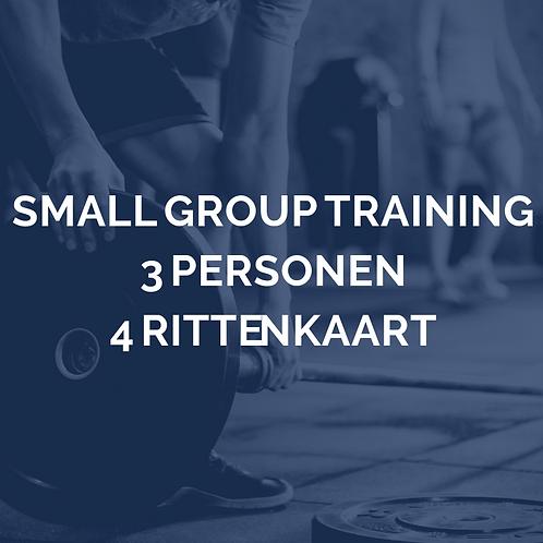 Small group training | 3 personen | 4 rittenkaart