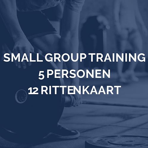 Small group training | 5 personen | 12 rittenkaart