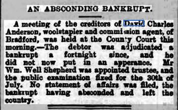 15.1.3 Absconding bankrup, Bradford Dail