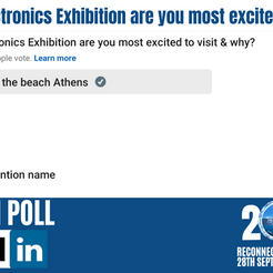Reconnect, The Electronics Exhibition Leading in the Poll 75%!