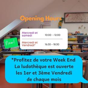 Ludik ouvert le vendredi