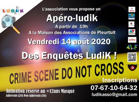 Thème de la soirée Apéro-Ludik du 14 août 2020 : les Enquêtes.