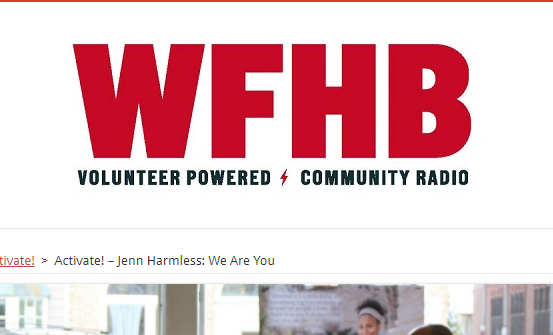 WFHB homepage with We Are You featured
