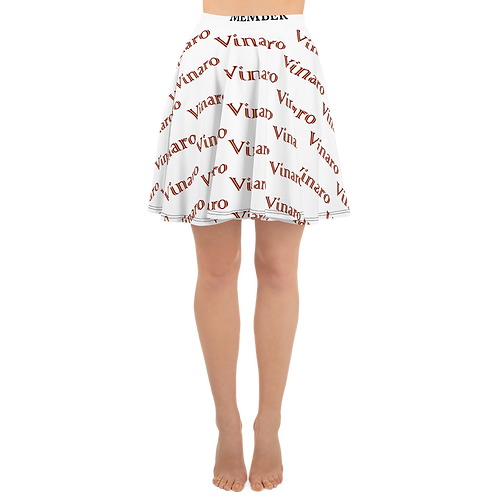 Vinaro Women Skater Skirt White