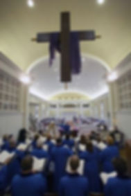 The Chancel Choir singing during Lent
