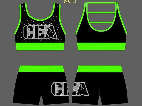 CEA Sports Bra and Shorts set