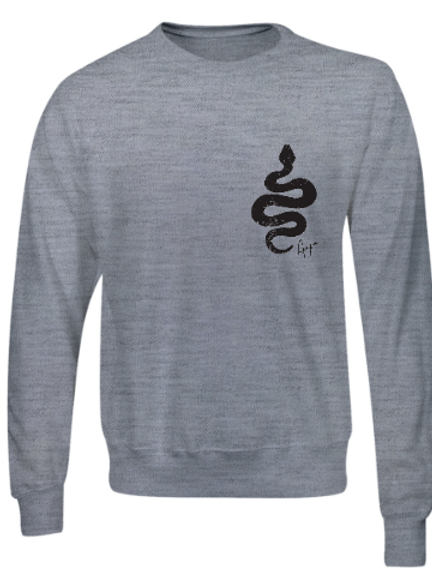 Aaja standard Heather Grey Jumper (double sided print)