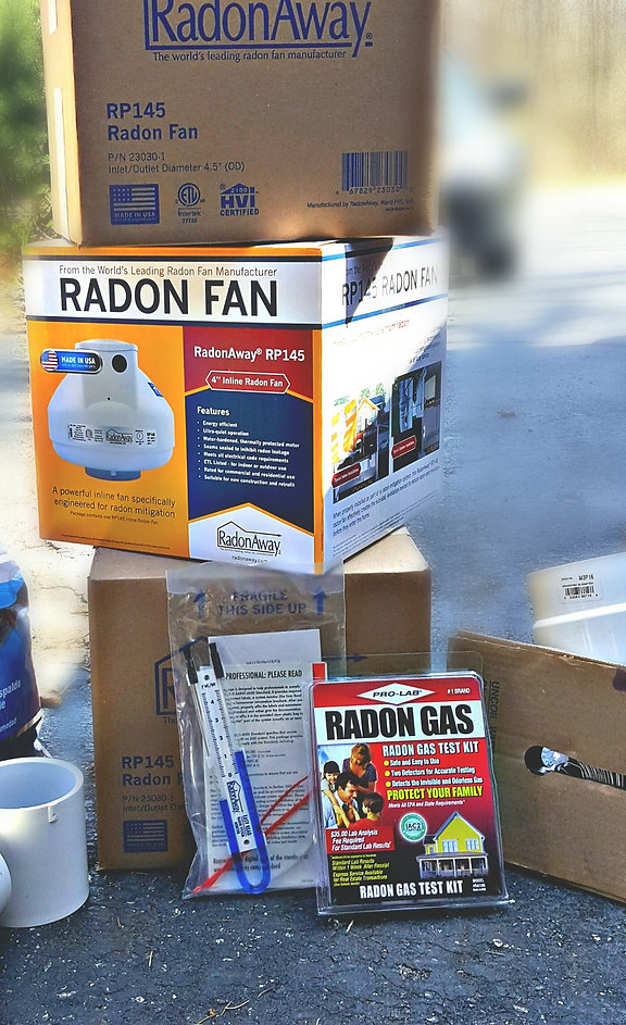 Radon Fan Radon Test Kit